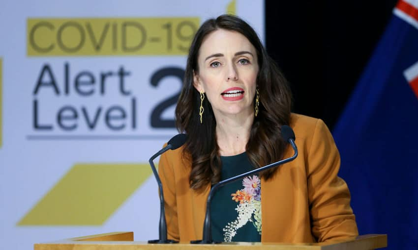 Prime Minister Jacinda Ardern Speaks to Media